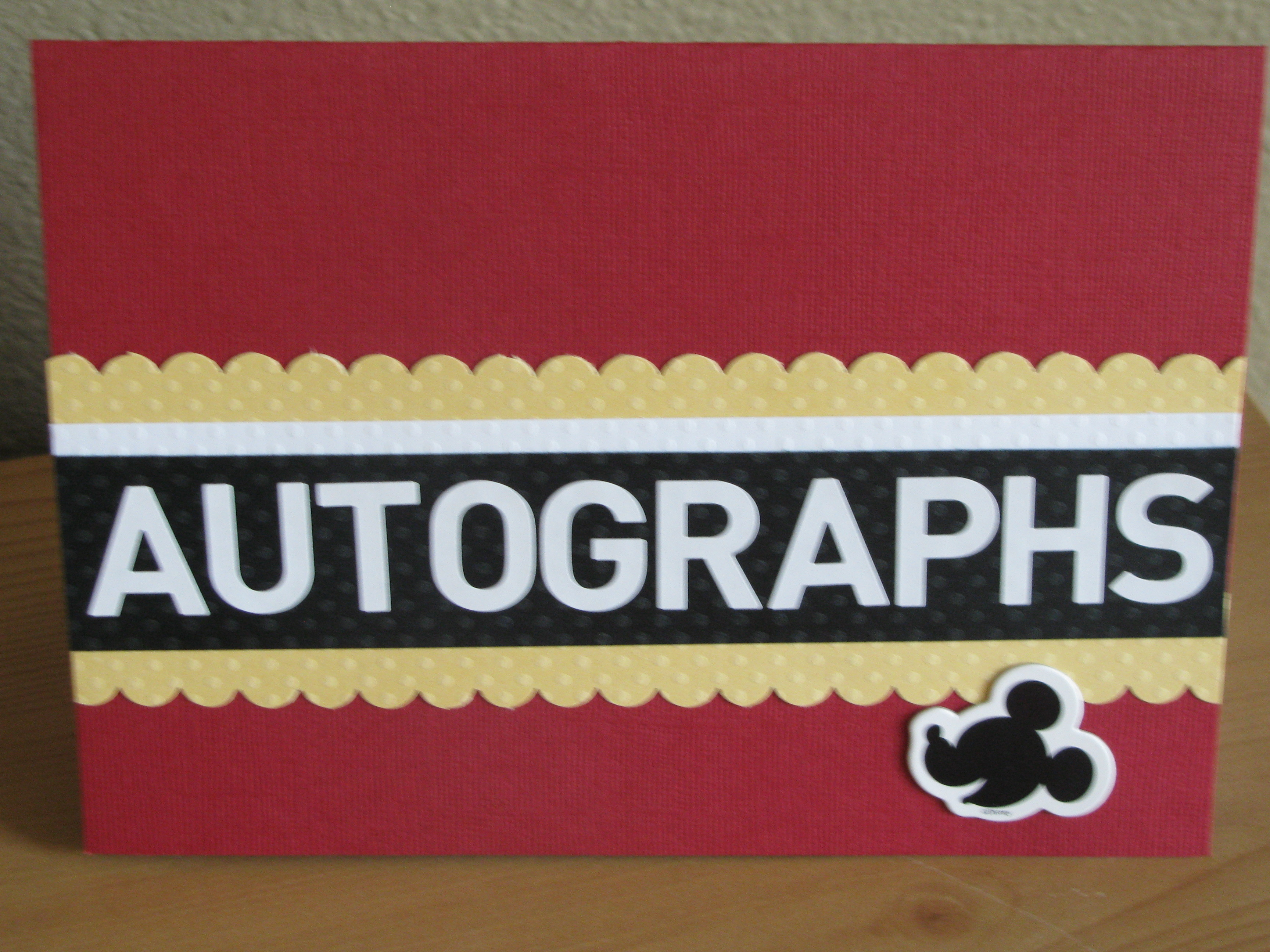 disney on a budget autograph books thrifty and thriving