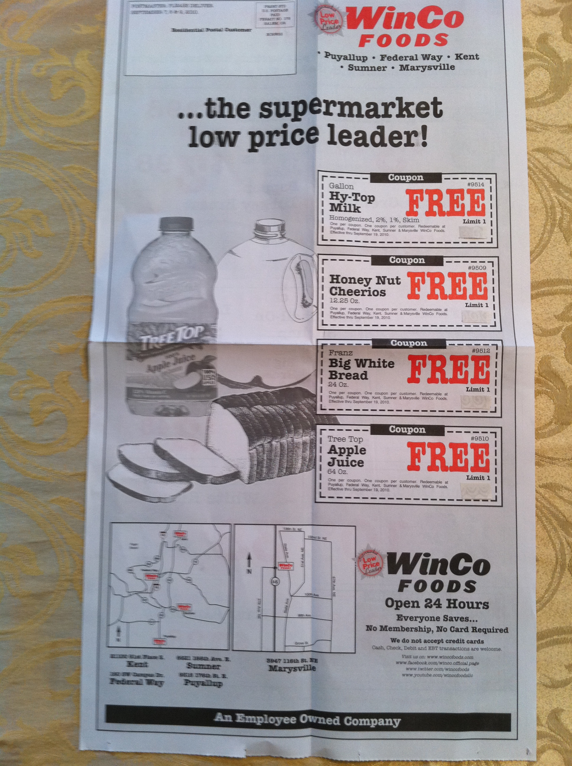 Winco online shopping