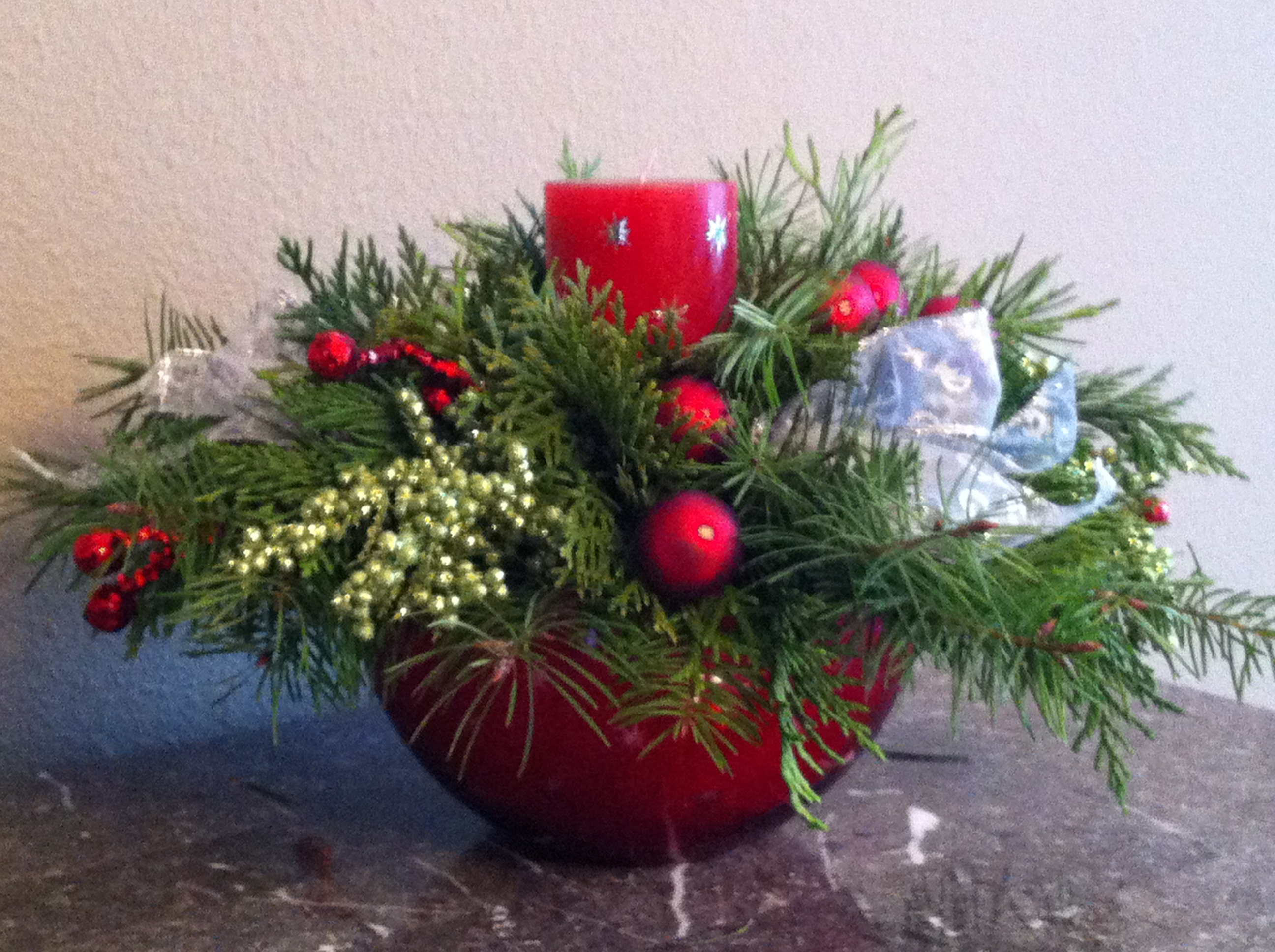 homemade holiday make your own christmas centerpiece, Beautiful flower