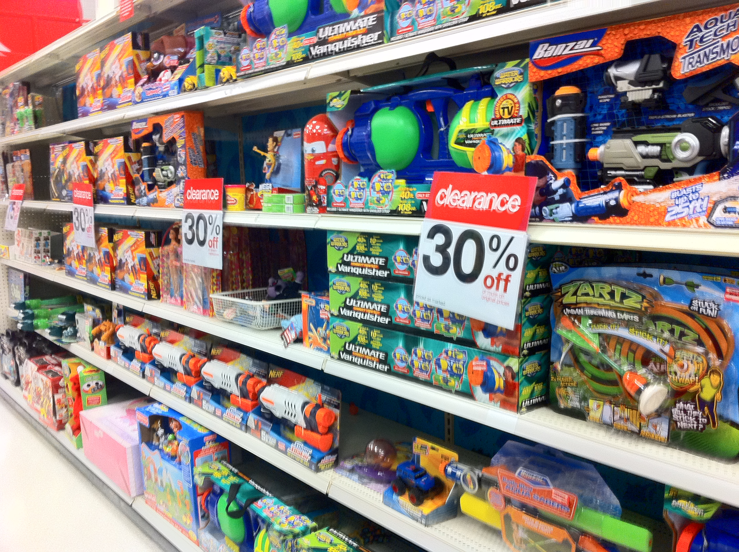 Target Toy Aisle Aisle of Clearance Toys