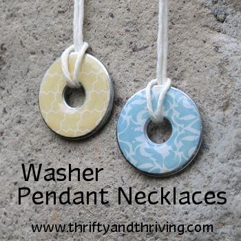 Washer pendant necklaces aloadofball Choice Image