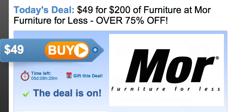 Spotted Fox $200 to spend at Mor Furniture for Less for