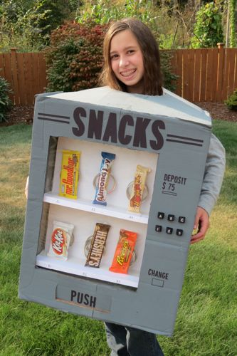 The whole family pitched in to get the costume made my oldest helped me with the design of the costume and my youngest picked out ...  sc 1 st  Thrifty and Thriving & Celebrate with HERSHEYu0027S: DIY Vending Machine Costumes + Giveaway ...
