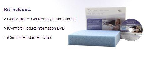 FREE Serta Memory Foam Sample Kit