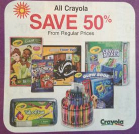 picture relating to Crayola Printable Coupons named Fred Meyer: 50% off Crayola + Printable Discount coupons (12/8 7am