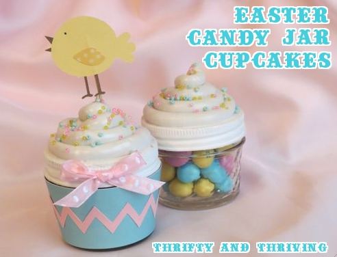 Easter Cupcake Candy Jars using Silhouette