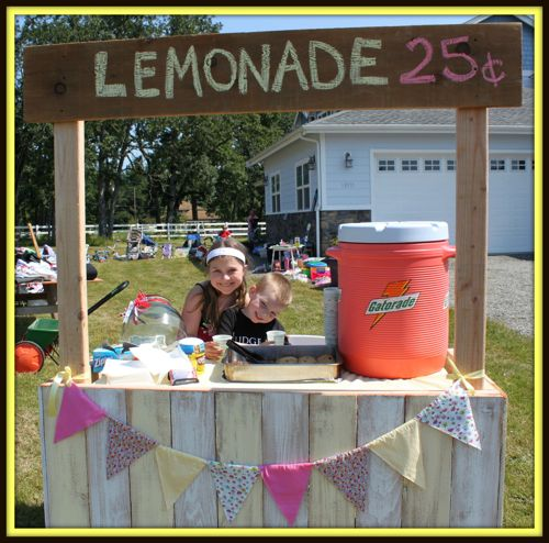 build your own lemonade stand pictures to pin on pinterest