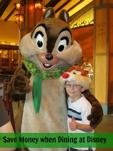 Save money when dining at Disney - We had 2 people, ate 6 meals and 1 snack all for less than $30 out of pocket.