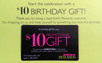 Kohls Rewards Possible 10 Coupon On Your Birthday