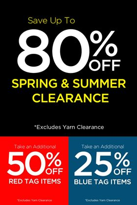 michaels clearance event