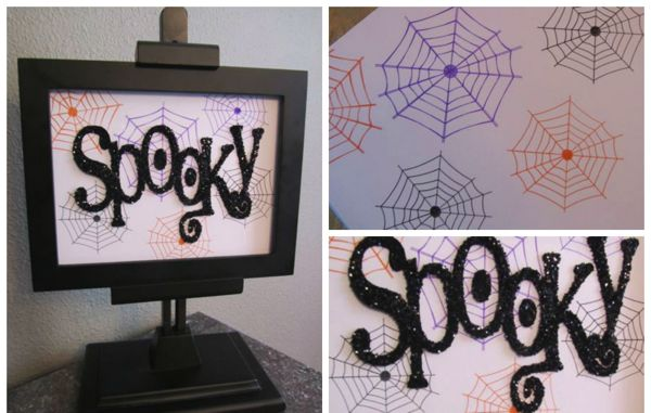 Silhouette pens spooky Halloween Sign