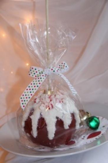 Homemade Christmas Ornament Caramel Apples