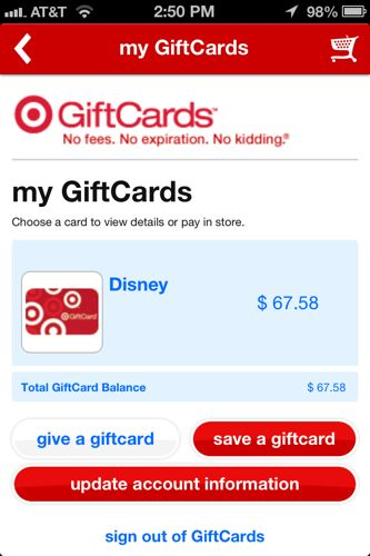 Add Target Gift cards