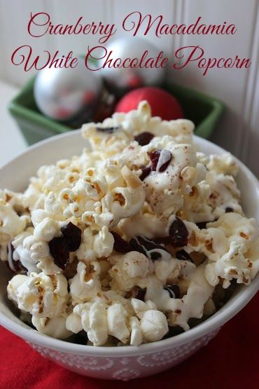 Cranberry Macadamia White Chocolate Popcorn