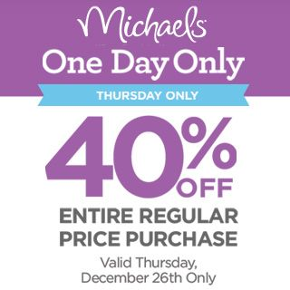 Michaels one day sale