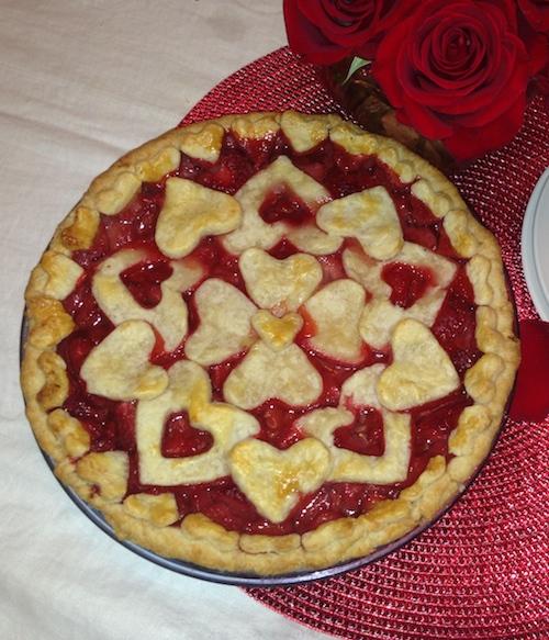 Strawberry Pie with Heart Pie Crust