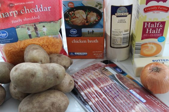 slow cooker potato soup ingredients