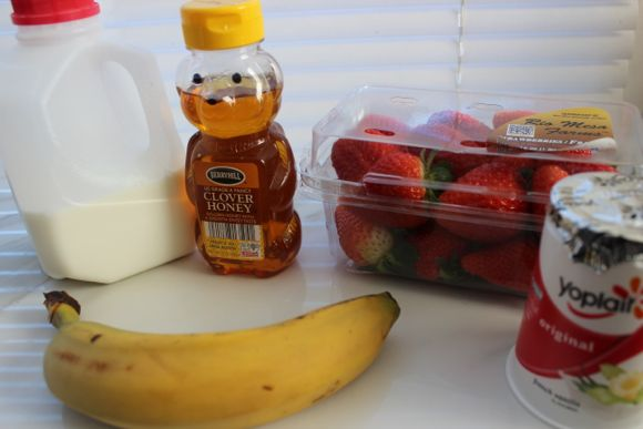 strawberry and banana smoothie ingredients