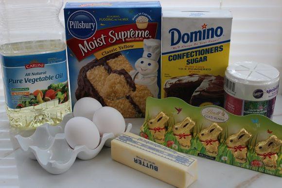 Easter cupcakes in a jar ingredients
