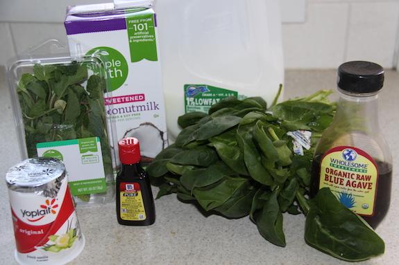 Shamrock Smoothie Ingredients