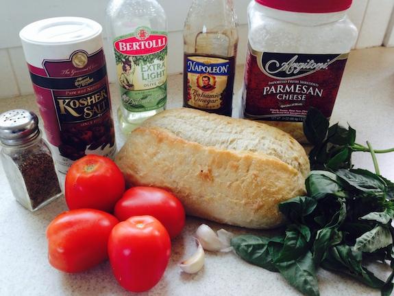 Brushetta Ingredients