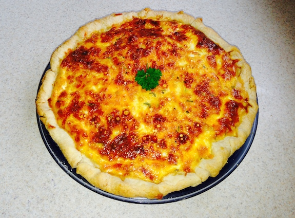 Ham and Cheese Quiche - super easy!