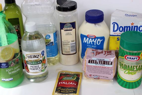 Ingredients for Olive Garden dressing