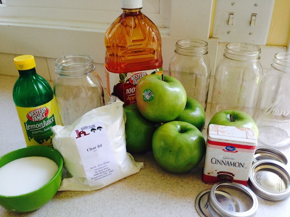Canned Apple Pie Filling ingredients
