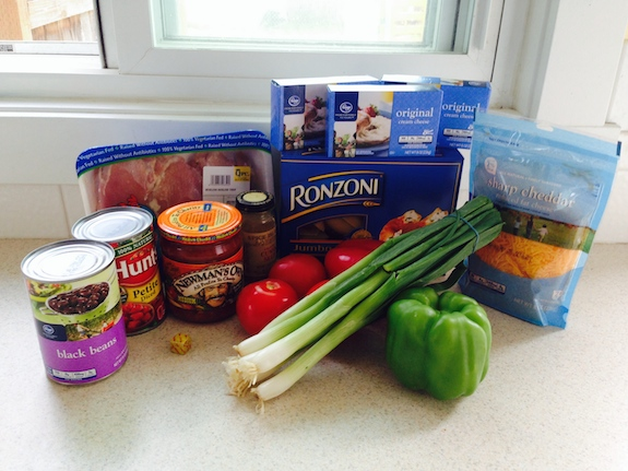 Ingredients for Stuffed Mexican Chicken Shells