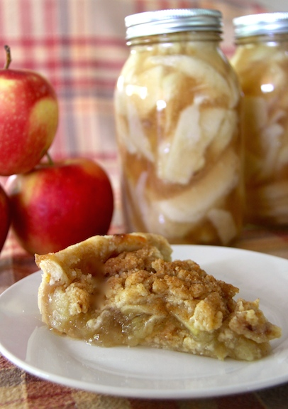 Canned Apple Pie Filling and Dutch Apple Pie recipe