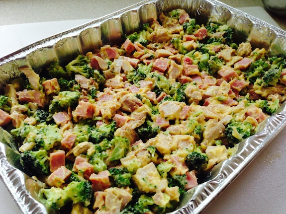 Add Chicken Cordon Bleu Mixture to pan