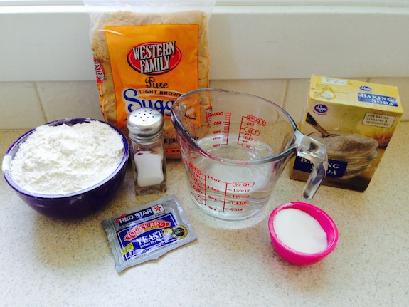 Homemade Soft Pretzel ingredients