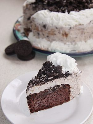 how to make oreo ice cream cake at home