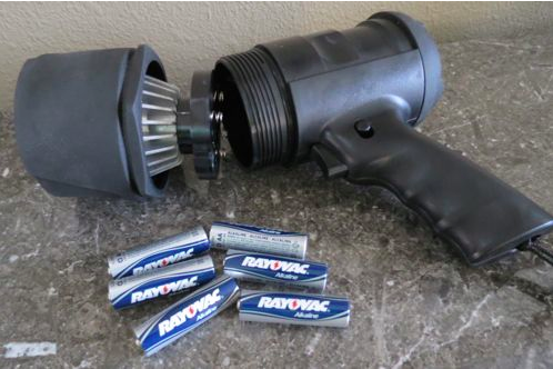 Rayovac flashlight and batteries