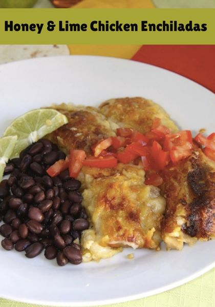 Honey and Lime Chicken Enchiladas