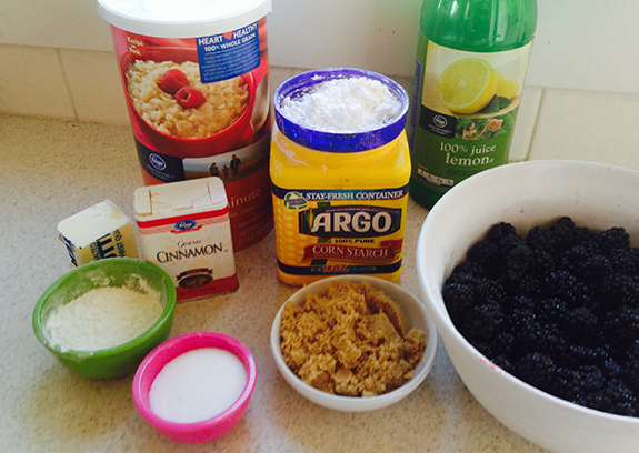 Ingredients Blackberry Cobbler