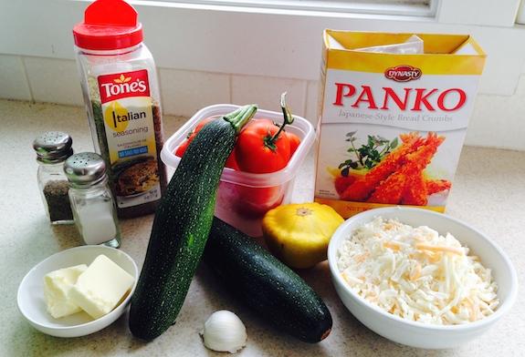 Squash Tomato Zucchini Casserole ingredients