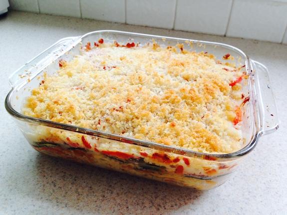 Great side dish Squash Tomato Zucchini Casserole