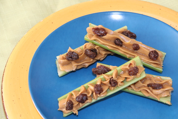 Classic Ants on a Log - Celery, Peanut Butter and Raisins