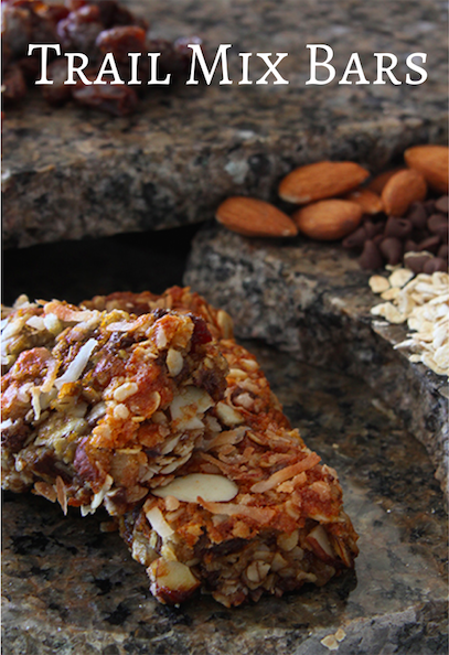 Homemade Trail Mix Bars - great for snacks or a quick breakfast