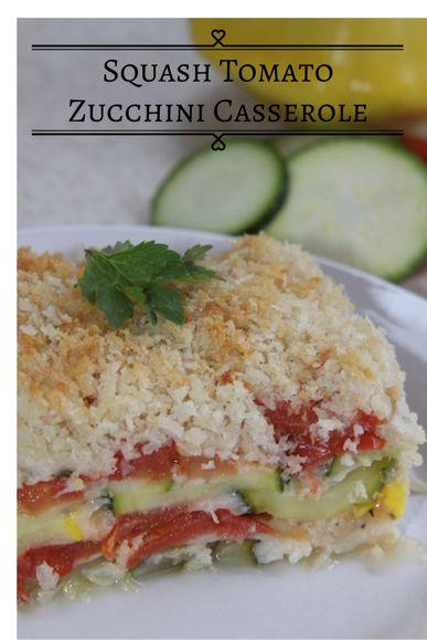 Squash Tomato Zucchini Casserole