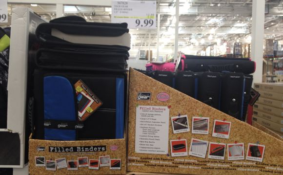 costco has binders filled with school supplies for only 999 after 3 instant savings
