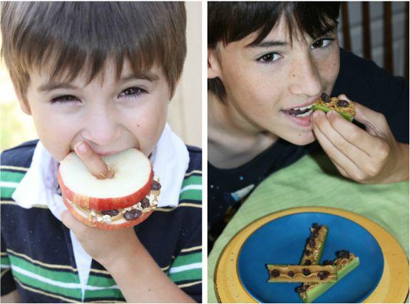 kids eating snacks