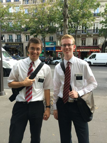 Elder Austin Palmer Paris France Mission