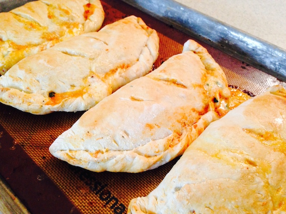 Bake homemade Calzones