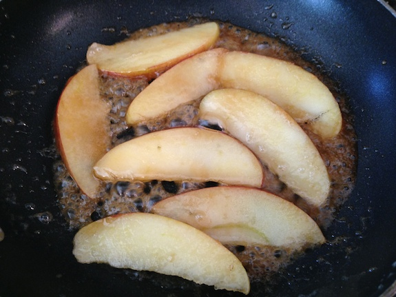 Butter, brown sugar and apples