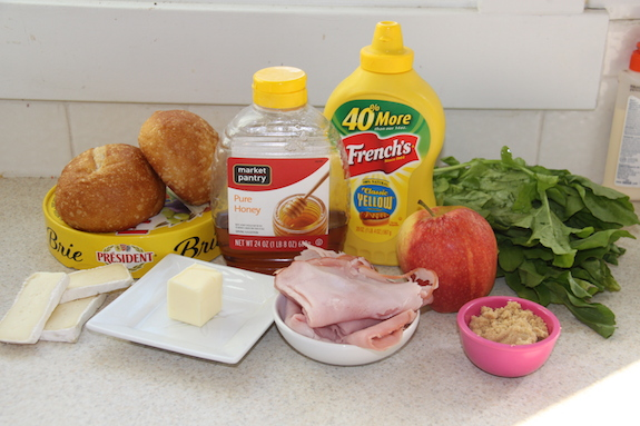 Ingredients for Ham & Brie Sandwich