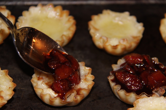 Phyllo Brie Bites with Strawberries
