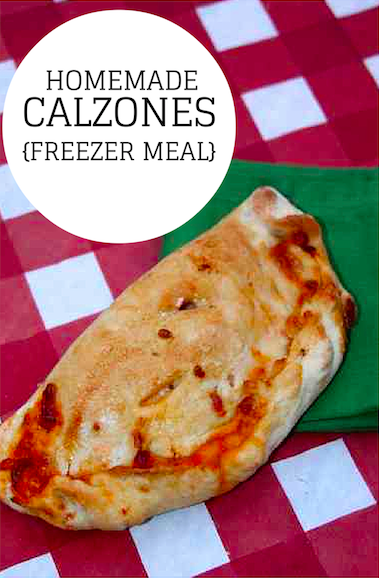 Homemade Calzones - Great Freezer Meal!