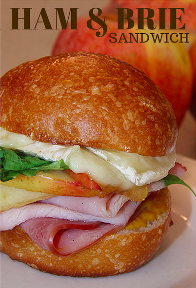 Gourmet Ham & Brie Sandwich with Carmelized Apples  YUM!